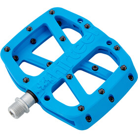 e*thirteen Base Flat Pedals 22 Pins blue